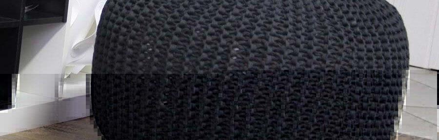 Pouf aus Textilgarn
