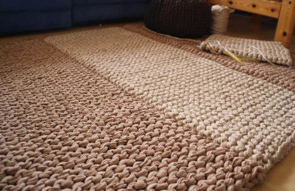strickteppich aus newline textilgarn. Black Bedroom Furniture Sets. Home Design Ideas