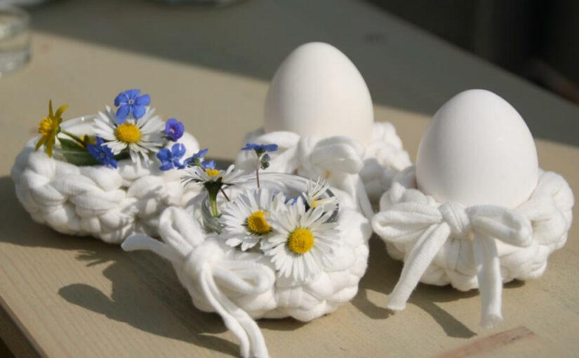 Textilgarn zu Ostern: Das 5-Minuten-Ei