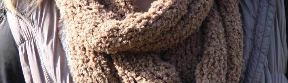 Loop – gestrickt aus kuscheligem Baumwollgarn: Textilo-Teddy-Wave