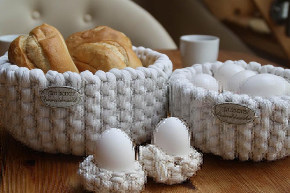 h kel anleitung eierbecher textilgarn dicke wolle. Black Bedroom Furniture Sets. Home Design Ideas