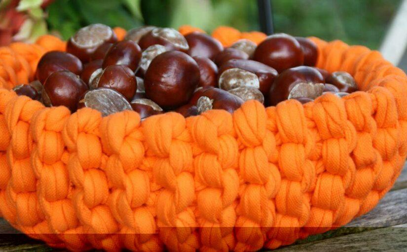 Herbstkorb aus Textilos