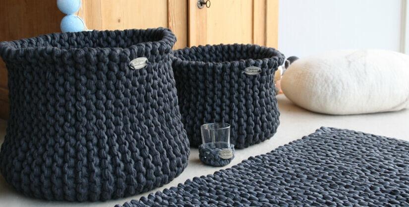 Strickkörbe aus Textilgarn – immer wieder neu