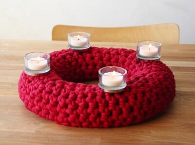 geh kelter adventskranz textilgarn b ndchengarn und. Black Bedroom Furniture Sets. Home Design Ideas