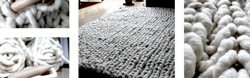 Filzseil-Strickteppich – dicke Wolle in Teppichqualität