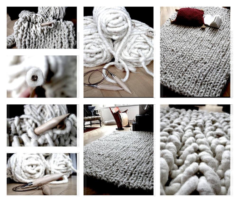 Dicke Wolle - Strickteppich von Karen