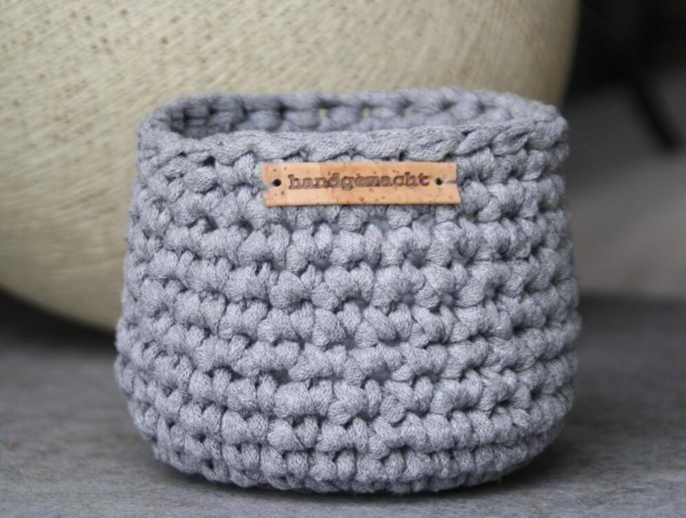 Kleine Gehäkelte Utensilos Aus Original Textilo Stripes