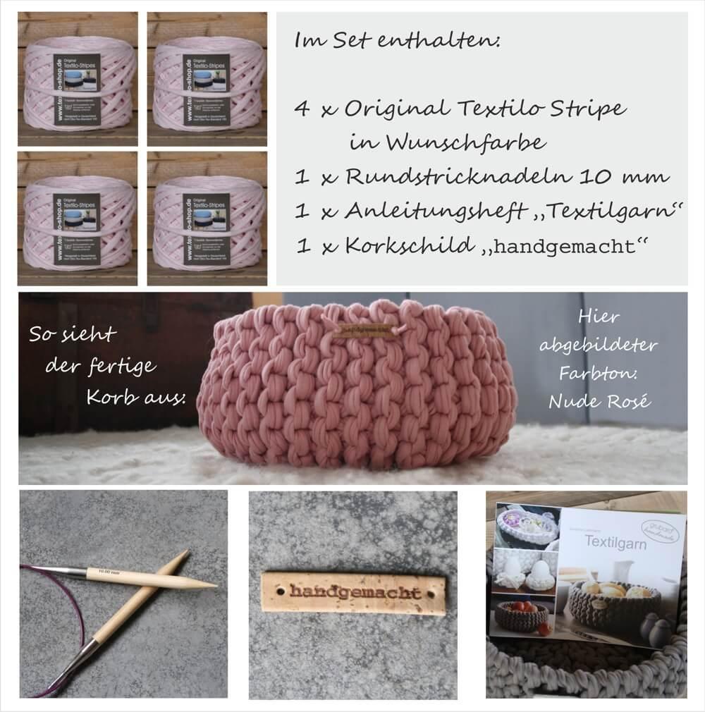 DIY-Set Strickkorb