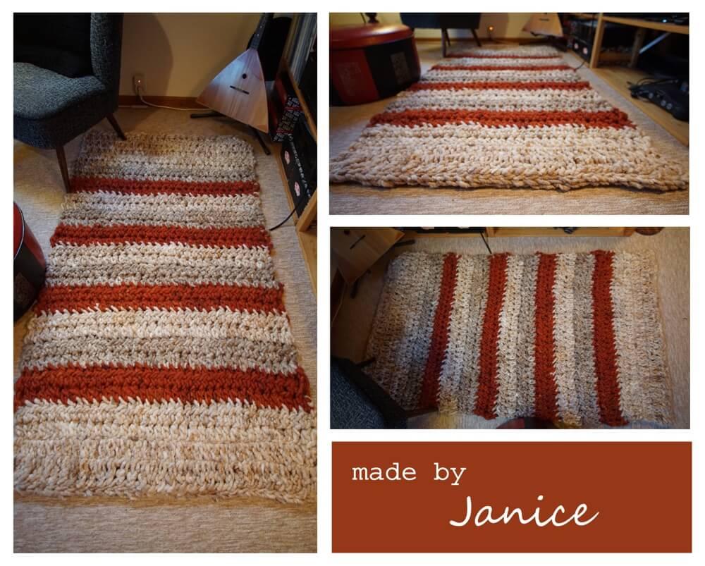 Häkelteppich aus Wollschnur von Janice