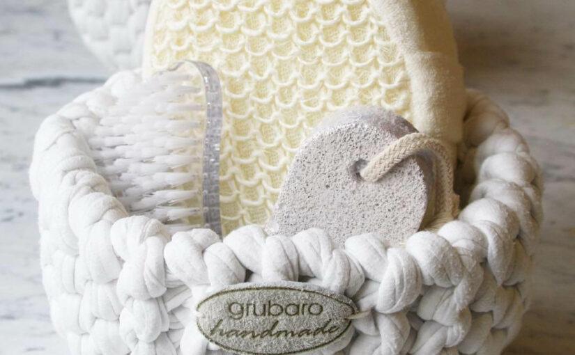Gestricktes Badutensilo aus NewLine Textilgarn