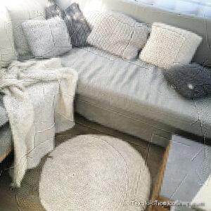 Teppich - Kissen - Decke gestrickt und gehäkelt