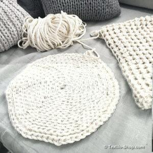 Teppich häkeln aus Kordelgarn