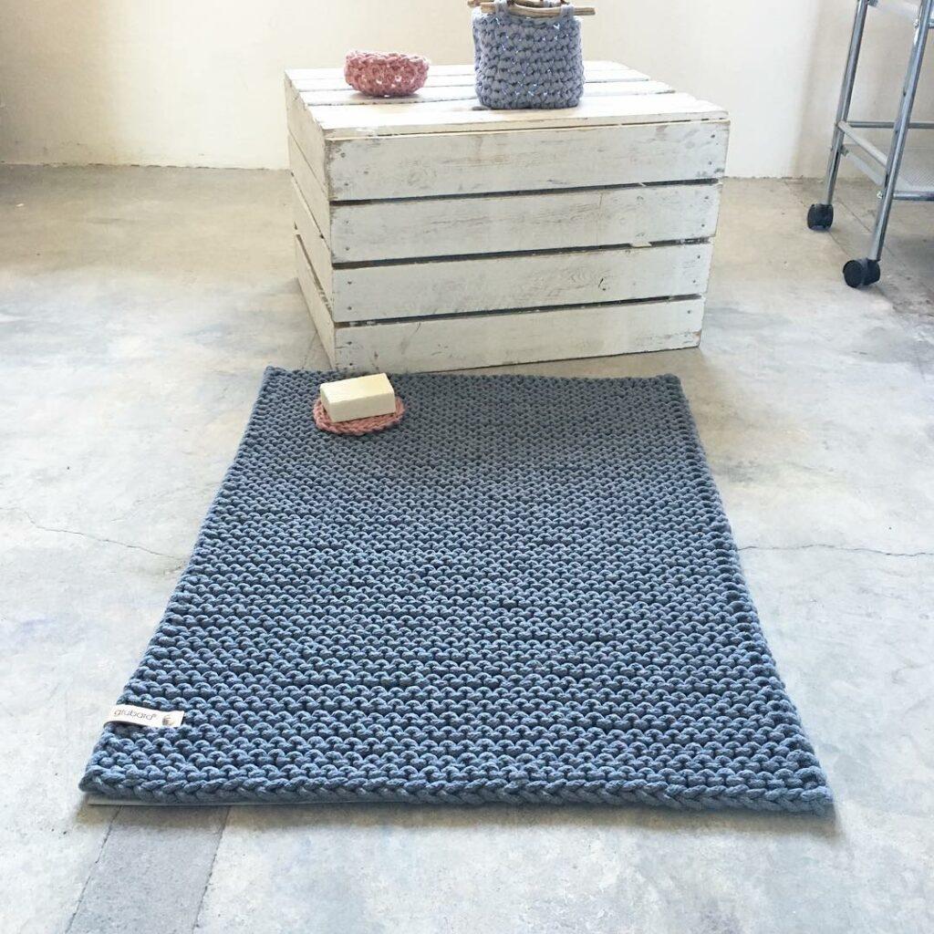 Badteppich- Badmatte aus Kordel L (2)