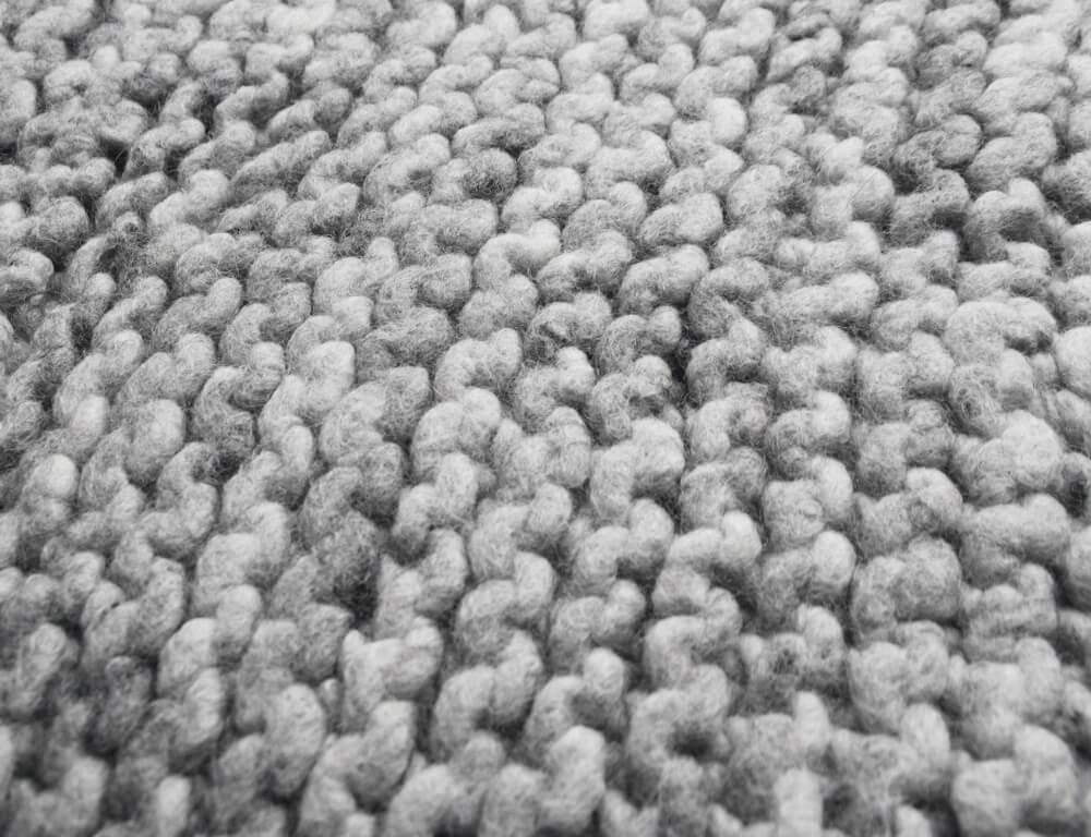 Strickteppich nach dem Waschen