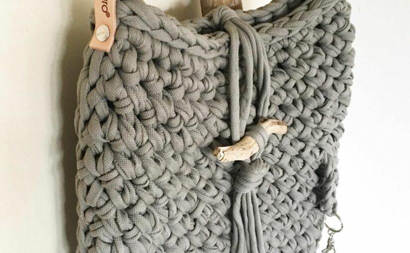 Tasche häkeln aus Textilgarn einfach + günstig