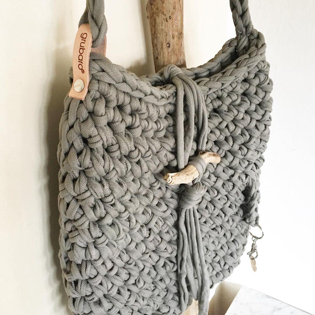 Tasche häkeln aus Textilgarn